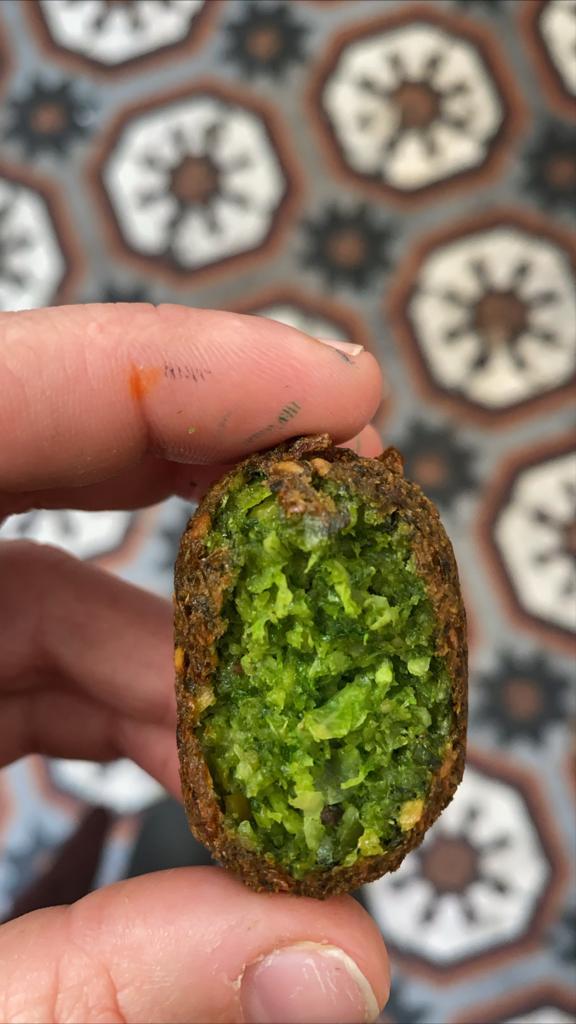 פלאפל ירוק היסטרי של אלון - כדור